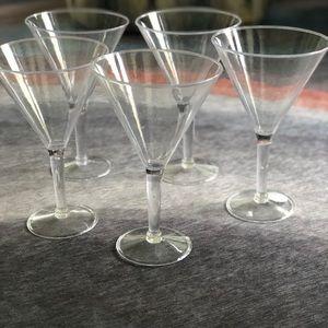 Jumbo plastic martini glasses